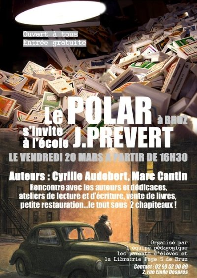 Affiche : rencontre avec les élèves de l`école J. Prévert à Bruz.